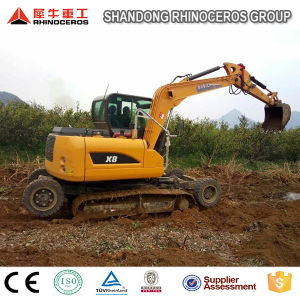 Construction Machinery, 8ton Wheel Excavator, Crawler Excavator for Sale pictures & photos