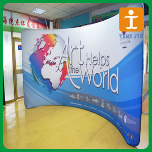 Horizontal Curved Tension Fabric Exhibition Display (TJ-PO-05) pictures & photos