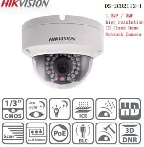 Hikvision 1.3MP Network IR Fixed Mini Dome Camera Poe IP Camera (DS-2CD2112-I) pictures & photos
