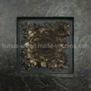 Handmade Abstract Gold Foil Rose Painting for Sale (LHS0176)