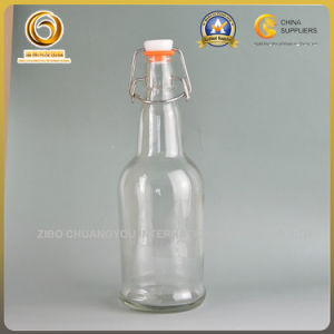 Popular Swing Top Glass 16oz Clear Beer Bottles (074)