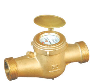 Multi Jet Dry Dial Brass Body Class B Water Meter, External Magnetic Tampering