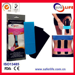 Knee Neck Back Wrist Strip Kinesiology Sport Tape Waterproof Therapeutic Synthetic Kinesio Tape Elastic Strong Bandage Tape pictures & photos