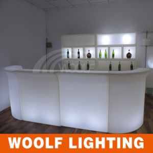 Shanghai Fair LED Lighting Furniture Outdoor Furniture Hotel KTV Bar Counter Table Chairs