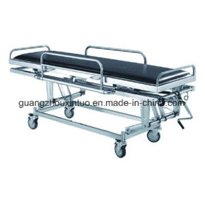 Medical Ambulance Manual Stretcher Hospital Wheel Patient Transfer Trolley pictures & photos
