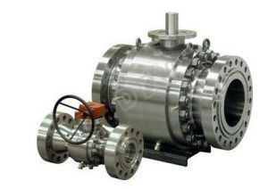 Double Block Doube Bleed Flanged Trunnion Mounted Ball Valve