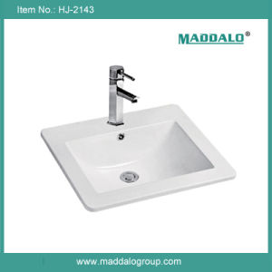 Drop in Surface Mounted Single Sink Vanity Cabinet Basin (HJ-2143)