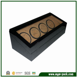 High Glossy Finish Black Automatic Wood Watch Winder pictures & photos