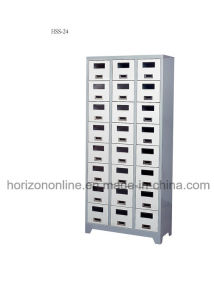 Laboratory Furniture 24-Doors Shoes Locker with Epoxy Powder Coating Finish