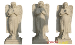 Polished White Marble Angel Statue (XMJ-FG07)