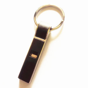 Unique Design Zinc Alloy Metal Keyring Whistle Key Ring (F1702)