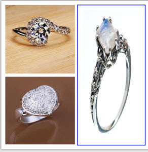 Alluring White Gold Filled CZ Women′s Ring Size 6