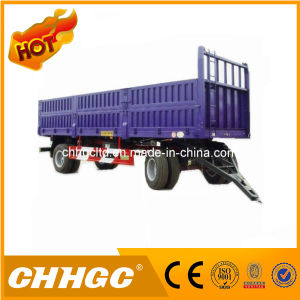 2 Axle Cargo Transport Fence Full Trailer Drawbar Full Trailer