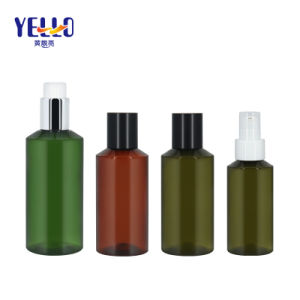 Cosmetic Packaging Plastic Pet Olive 100ml 150ml 200ml Body Lotion Bottle with Pump
