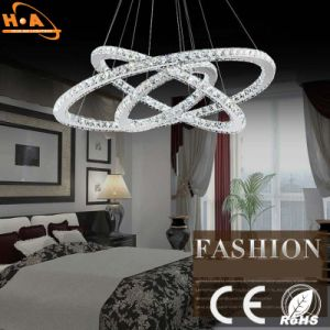 Three Crystal Round Rings LED Light Dining Room Chandelier pictures & photos