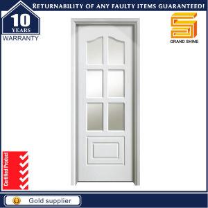 Interior Room PVC Wooden MDF Glass Panel Door