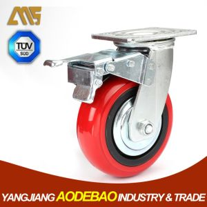 Heavy Duty Brake PVC Caster Wheel