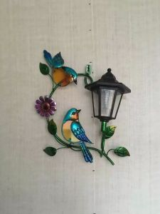 Metal Solar Power Light for Wall Decoration