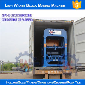 Wante Machinery Concrete Hollow/ Solid/ Paver/ Interlocking Brick Machine (QT6-15) pictures & photos