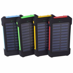 Hiqh Quality Waterproof Solar Power Bank 10000mAh, Solar Power Bank Charger 8000mAh for iPhone Samsung HTC pictures & photos