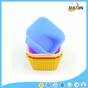 Non-Stick Food Grade Square Shape Silicone Cup Cake Mold pictures & photos