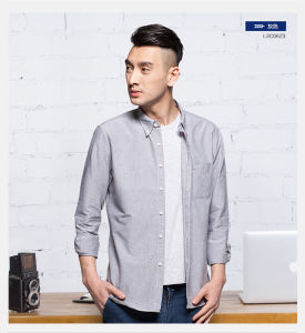 Men Dress Cotton Long Sleeve Shirt Business Casual Shirts for Men pictures & photos