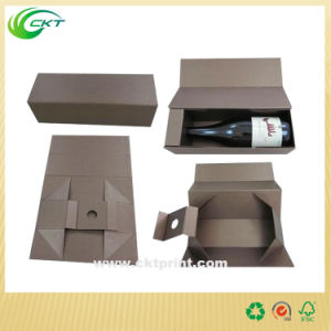 Custom Corrugated Wine Gift Box with Foil Stamping (CKT-CB-732)