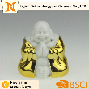 Gold Plating Ceramic Buddha for Home Decoration pictures & photos