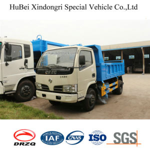 4cbm Dongfeng Barrel Collection Euro 4 Waste Collection Garbage Disposal Truck
