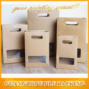 Custom Kraft Paper Bag Window Shopping Packaging (BLF-PBO352) pictures & photos