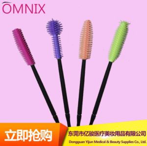 Eyelash Extension Tool Colorful Straight or Curved Disposable Silicone Eyelash Brush Mascara Wands Applicator Brush Makeup Tools
