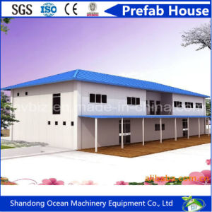 Prefab Modular Steel House with Pavilion Roof Integrated by Steel Structure and Color Steel Sandwich Panels pictures & photos