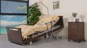 AG-W001 5-Function Linak Motors Wood Advanced Homecare Bed pictures & photos
