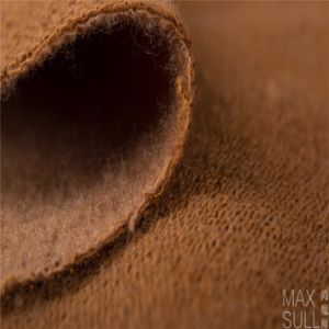 Mixed Wool Fabric for Winter Coat in Brown