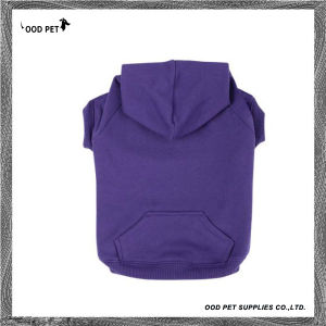 Purple Plain Purified Cotton Dog Hoodies (SPH6001-2) pictures & photos