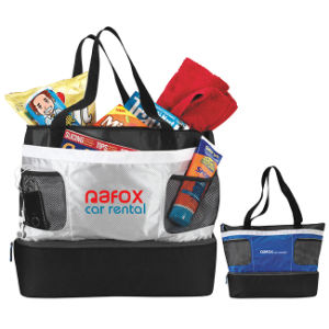 600d Polyester Double Decker Cooler Tote