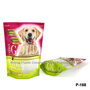 Zipper Stand up Bag for Dog Food with Bottom Gusset