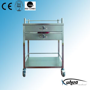 Stainless Steel Hospital Trolley (Q-13) pictures & photos