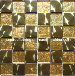 Gold Metal Mix Glass Mosaic Tile (SM201) pictures & photos