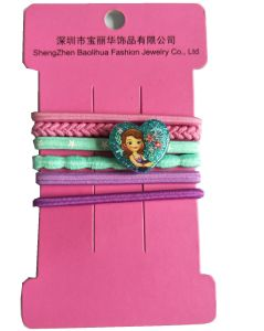 China Assorted Elastic Hair Bands with Plastic Figure Decoration ... 8c44ee6c098
