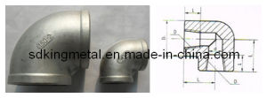 Stainless Steel Threaded 90 Elbow pictures & photos