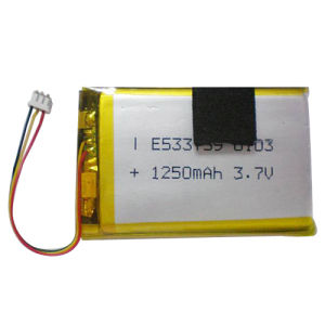 Polymer Li-ion Rechargeable Battery Pack 533759P 1250mAh 3.7V