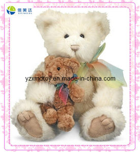 Long Plush White Monther and Son Teddy Bear Toy pictures & photos