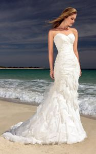 Latest Gorgeous Beach Wedding Gown Ogt006W