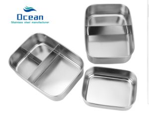 ae666d9f0819 201 Stainless Steel Lunch Box & 3 Compartment Lunch Container