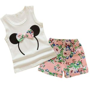Baby Girl Clothes Outfits Short Sets 2 Pieces with T-Shirt + Short Pants
