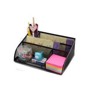 Office & School Supplies Stick On Desktop Makeup Storage Pen Holder Plastic Desk Organizer Stationery Clear-Cut Texture