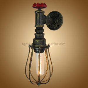 E27 Vintage Pipe Wall Mounted Reading Lights With Cage For Living Room