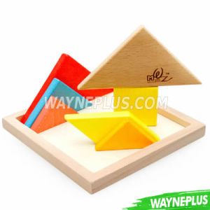 Confirm to En71 ASTM 100PCS Colorful Wooden Building