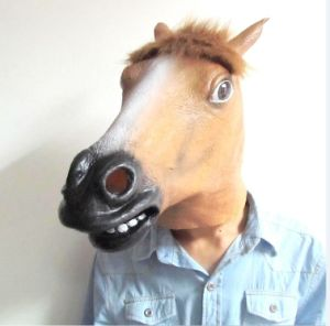 new style latex halloween horse mask animal head party mask